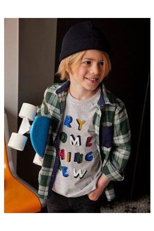 Vertbaudet Jongens-T-shirt met grafische boodschap en korte mouwen