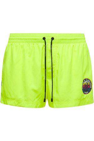 Dolce & Gabbana Heren Shorts - Logo Nylon Swim Shorts
