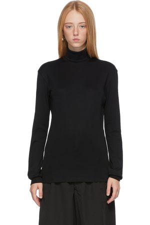 LEMAIRE Black High Collar Turtleneck