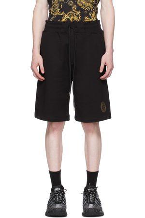 VERSACE Heren Shorts - Black V Emblem Shorts