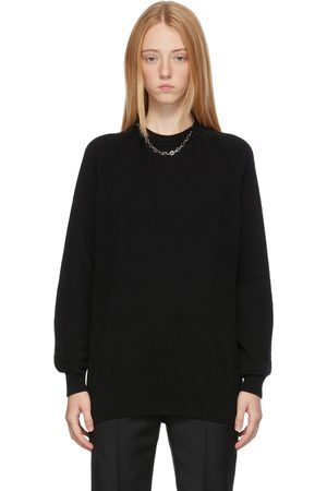 Givenchy Dames Sweaters - Black Cashmere Chain Collar Sweater