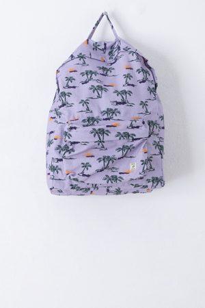 Sissy-Boy Paarse rugzak met all over palm print
