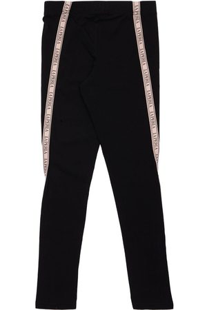La Perla Cotton Jersey Leggings W/ Logo Tape