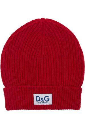 Dolce & Gabbana Heren Mutsen - D&g Patch Wool Knit Beanie Hat
