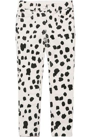 STELLA MCCARTNEY KIDS Dalmatian Print Corduroy Cotton Pants