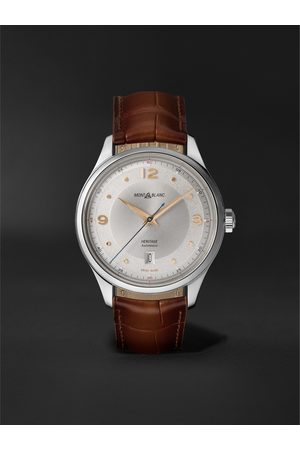 Montblanc Heritage Automatic 40mm Stainless Steel and Alligator Watch, Ref. No. 128672