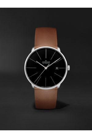 Junghans Meister Fein Automatic 39.5mm Stainless Steel and Leather Watch, Ref. No. 027/4154.00