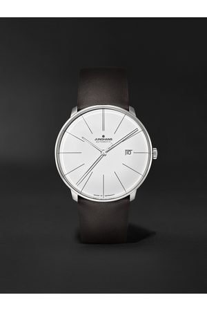 Junghans Meister Fein Automatic 39.5mm Stainless Steel and Leather Watch, Ref. No. 27/4152.00