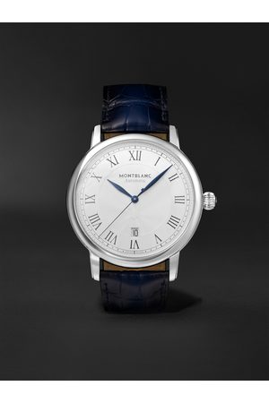 Montblanc Star Legacy Automatic 42mm Stainless Steel and Alligator Watch, Ref. No. 119956