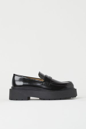 H&M Chunky leren loafers