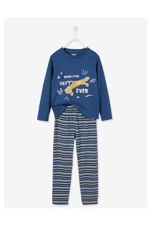 Vertbaudet Jongens Pyjama's - Lange pyjama voor jongens Skateboard Oeko-Tex®. effen donkerblauw met versieri