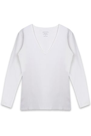 Claesens Dames T-shirts - T-shirts V-Neck T-Shirt LS