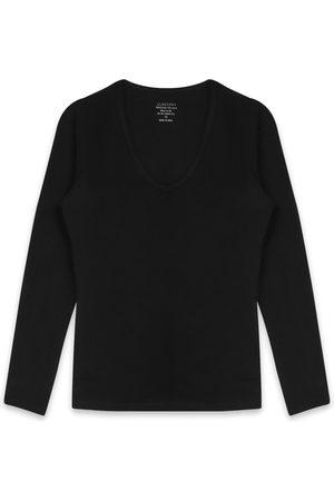Claesen's Dames T-shirts - T-shirts V-Neck T-Shirt LS