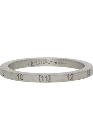 Maison Margiela Heren Ringen - Silver Slim Numbers Ring