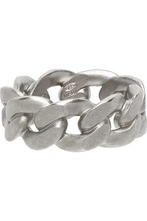 Maison Margiela Heren Ringen - Silver Semi-Polished Chain Ring