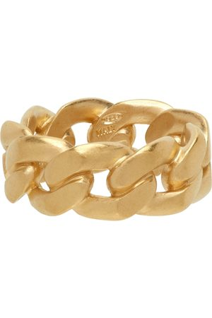 Maison Margiela Gold Semi-Polished Chain Ring