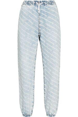 Alexander Wang Dames Wijde broeken - Wide leg jean jogging trousers