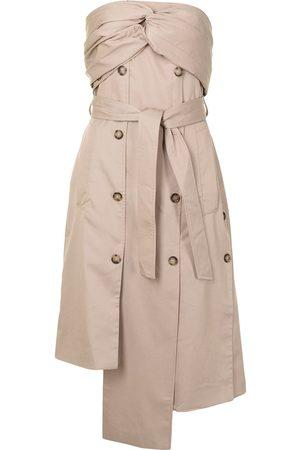 Rokh Dames Asymmetrische jurken - Strapless asymmetric-tied dress