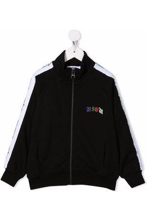 Msgm Logo-print cotton jacket