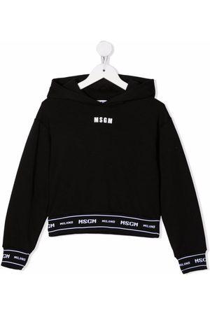 Msgm Logo-trim hoodie