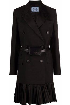 Prada Re-Nylon logo pouch blazer mini dress