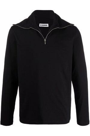 Jil Sander Short-zip stretch-cotton sweater