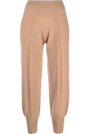 Stella McCartney Dames Joggingbroeken - Tapered wool-blend track pants