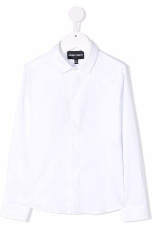 Emporio Armani Jongens Lange mouw - Long sleeved cotton shirt