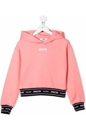 Msgm Meisjes Hoodies - Logo long-sleeve hoodie