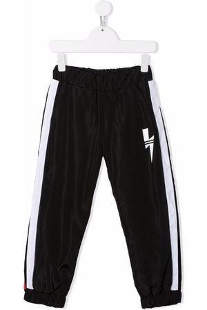 Neil Barrett Jongens Joggingbroeken - Thunderbolt-print track pants