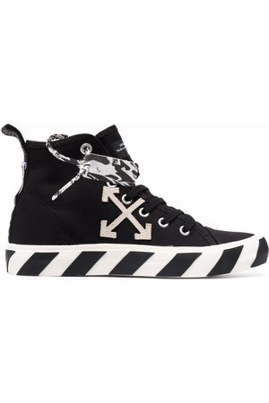 OFF-WHITE Heren Sneakers - MID TOP VULCANIZED CANVAS WHITE