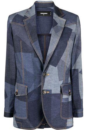 Dsquared2 Geometric-print denim blazer