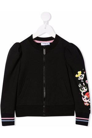MONNALISA Meisjes Bomberjacks - Powerpuff Girls zip-up bomber jacket