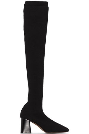 Neous Lepus 70mm over-knee knit boots