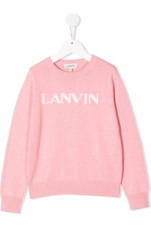 Lanvin Meisjes Sweaters - Logo-print crew neck sweatshirt