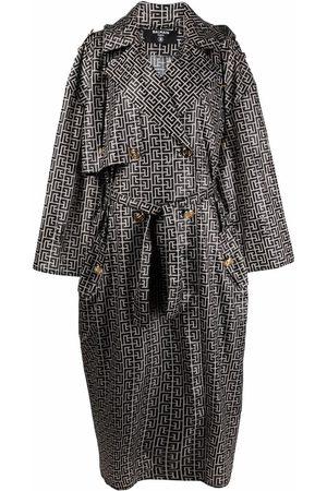 Balmain Dames Trenchcoats - Monogram-pattern trench coat