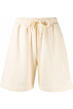 Nanushka Dames Bermuda's - Embroidered-logo organic cotton shorts