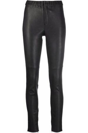 Isabel Marant Dames Leggings - Iany leather high-waist leggings