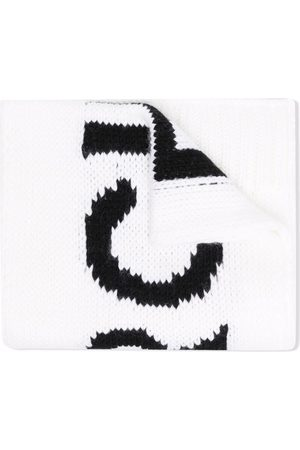 MM6 KIDS Meisjes Sjaals - Logo intarsia knitted scarf
