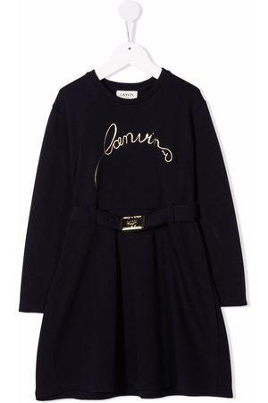 Lanvin Meisjes Jurken - Logo-embroidered knitted dress