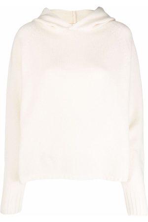 MA'RY'YA Ribbed-knit cashmere-blend hoodie