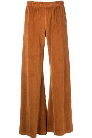 Suzie Kondi Wide-leg velour trousers