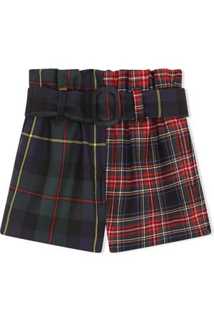 Dolce & Gabbana Meisjes Shorts - Mixed tartan-print shorts