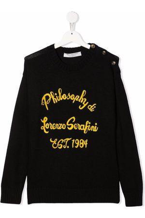 PHILOSOPHY DI LORENZO SERAFINI Sweaters - TEEN logo-print sweater