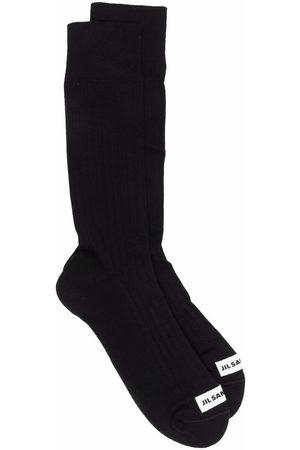 Jil Sander Heren Sokken - Logo-patch socks