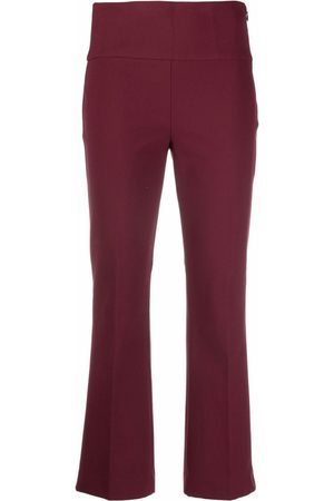 THEORY Dames Capri's - Fit-and-flare cropped trousers