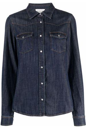 P.a.r.o.s.h. Dames Lange mouw - Long-sleeve denim shirt