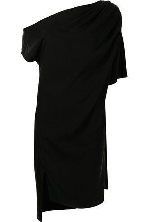 Lisa von Tang Dames Asymmetrische jurken - Drapery asymmetric midi dress