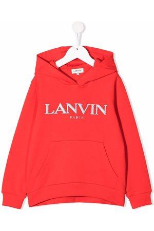 Lanvin Logo-print pullover hoodie