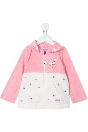 Miki House Meisjes Hoodies - Embroidered zip-up hoodie